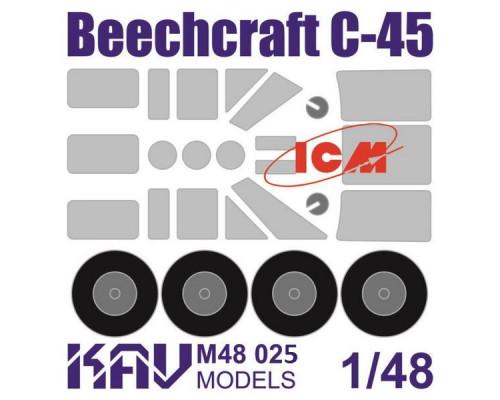 Окрасочная маска на Beechcraft Model 18 (ICM) все версии