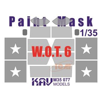 KAV M35 077 Окрасочная маска на остекление W.O.T. 6 (ICM 35507) KAV models