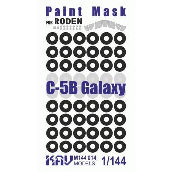 KAV M144 014 Окрасочная маска на C-5B Galaxy (Roden 330) KAV models
