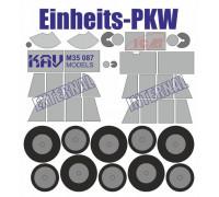 Окрасочная маска для моделей на базе Einheits Personenkraftwagen производства ICM (35581, 35582, 35583)