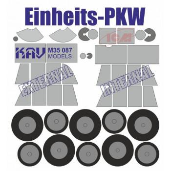 KAV M35 087 Окрасочная маска для моделей на базе Einheits Personenkraftwagen производства ICM (35581, 35582, 35583) KAV models