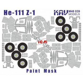 KAV M48 039 Окрасочная маска на остекление He-111Z-1 (ICM 48260) KAV models