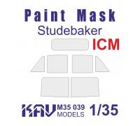 Окрасочная маска на остекление Studebaker (ICM 35511, 35512, 35513, 35514)
