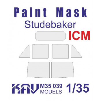 KAV M35 039 Окрасочная маска на остекление Studebaker (ICM 35511, 35512, 35513, 35514) KAV models