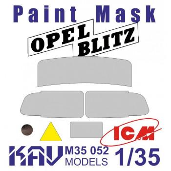KAV M35 052 Окрасочная маска на остекление для ICM 35401,35402, 35403 KAV models