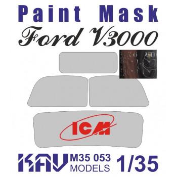 KAV M35 053 Окрасочная маска на остекление для ICM 35411,35412, 35413, 35414, 35803 KAV models