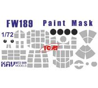 Окрасочная маска на остекление FW 189 (ICM 72291, 72292, 72293, 72294)