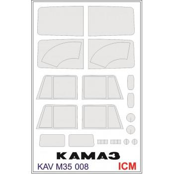 KAV M35 008 Окрасочная маска на остекление для ICM 35001 KAV models