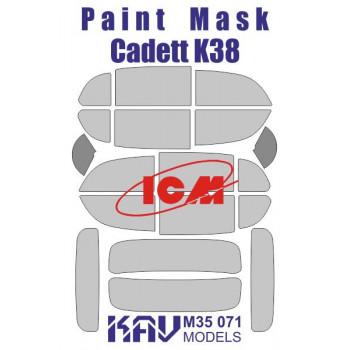 KAV M35 071 Окрасочная маска на остекление Kadett K38 (ICM 35478, 35480) KAV models
