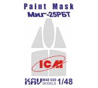 Окрасочная маска на остекление МиГ-25РБТ (ICM 48901, 48902)