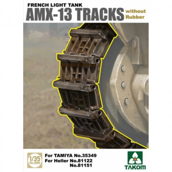 2060 1/35 French Light Tank AMX-13 Tracks without, , шт