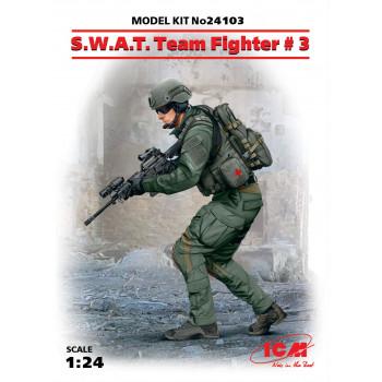 Фигура, Боец группы S.W.A.T. №3 сборная модель