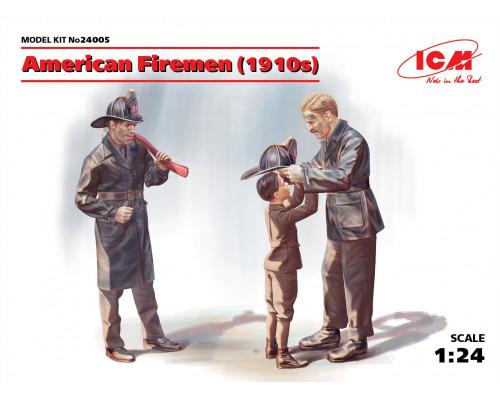 24005 ICM Фигуры, Американские пожарные (1910-е г.г.), 1/24