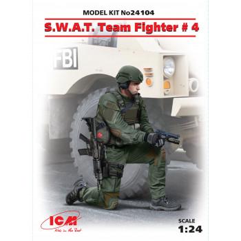 Фигура, Боец группы S.W.A.T. №4 сборная модель