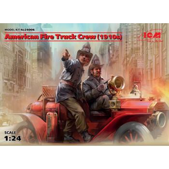 Фигуры, Экипаж американской пожарной машины (1910-е г.г.) сборная модель