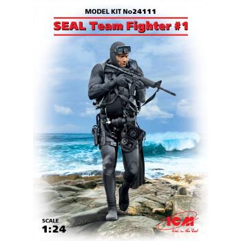Фигура, Боец группы SEAL №1 сборная модель