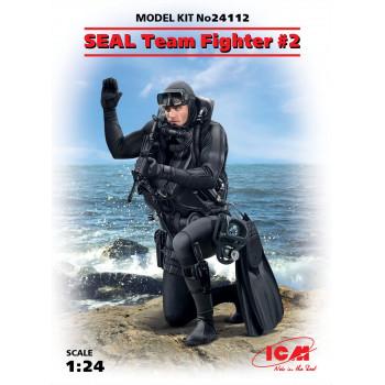 Фигура, Боец группы SEAL №2 сборная модель