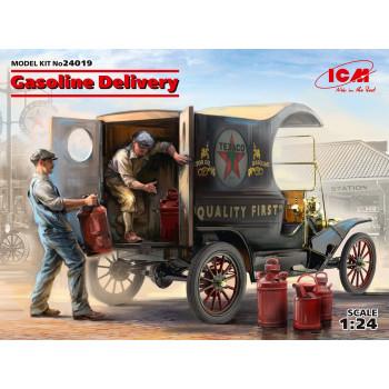 Доставка бензина, Развозной фургон Модель Т 1912 г. с американськими грузчиками сборная модель
