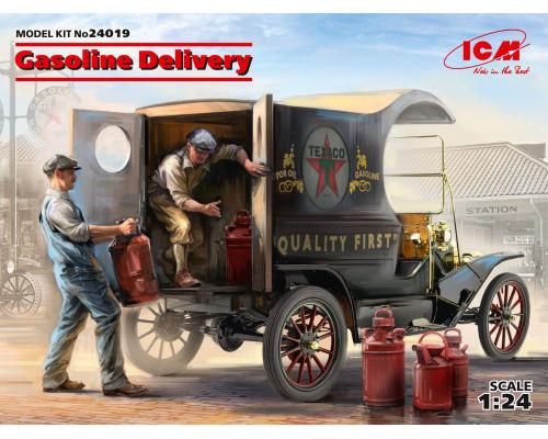 Доставка бензина, Развозной фургон Модель Т 1912 г. с американськими грузчиками