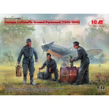 32109 ICM Фигуры, Наземный персонал Люфтваффе (1939-1945) (3 фигуры), 1/32