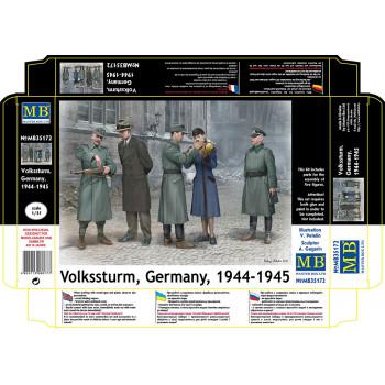 Фигуры Фольксштурм, Германия, 1944-1945 сборная модель