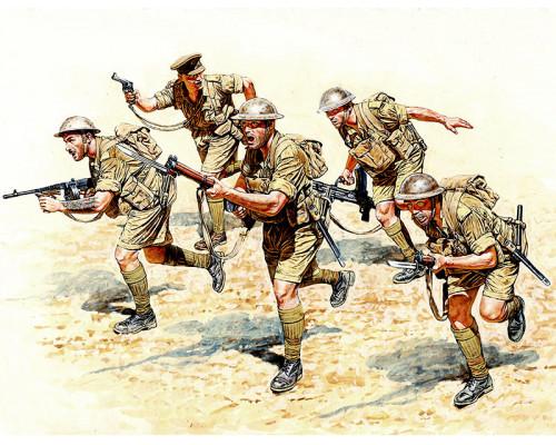 Фигуры Вританская пехота в бою, Северная Африка, 2МВ