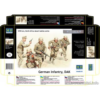 Фигуры Немецкая Пехота, ДАК, в Северной Африке пустыни сражения серии, Комплект N 3