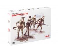 35684 ICM Британская пехота (1914), (4 фигуры), 1/35