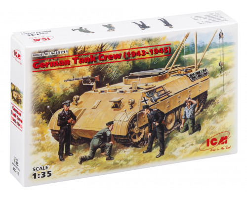 35211 ICM Фигуры Германский танковый экипаж (1943-1945), 1/35