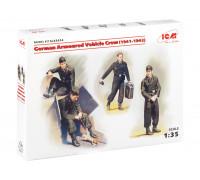 35614 ICM Фигуры Германский экипаж бронеавтомобиля (1941-1942 г.), (4 фигуры и кот), 1/35