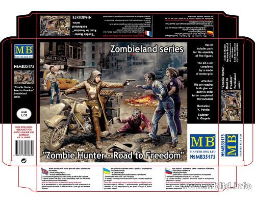 "Фигуры ""Охотник на Зомби - Дорога к свободе"", серия Zombieland"