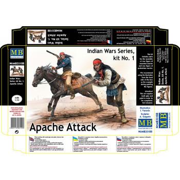 Фигуры, Серия индейских войн, набор № 1. Апачи. Атака