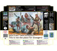 Фигуры, Серия битвы в пустыне, Клан Черепа – Новые Амазонки. Это не место для чужестранцев!
