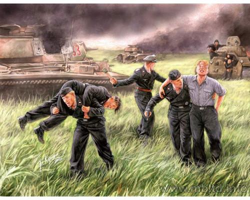 Фигуры Немецкая танковая команда, Курск, 1943г.