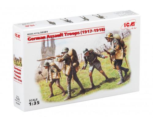 35291 ICM Фигуры Германские штурмовые части (1917 -1918), 1/35