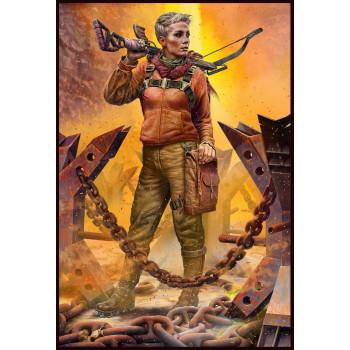 Фигуры, Постапокалиптика. Битва в пустыне. Клан Черепа - Дальний Рейд. Набор №2. Новый лидер. Анна.»