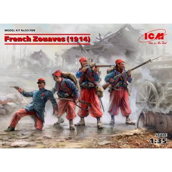 Фигуры, Французские зуавы (1914 г.) сборная модель