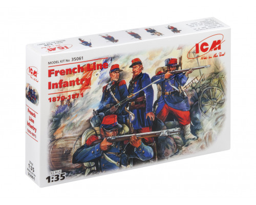 35061 ICM Фигуры Французская линейная пехота, франко-прусская война (1870-1871), 1/35