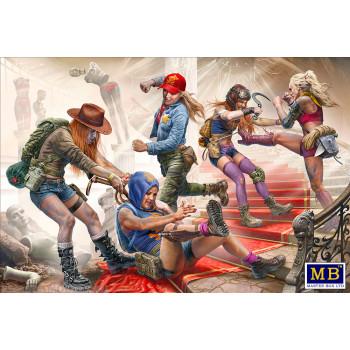 Фигуры, Серия битвы в пустыне, Клан Черепа – Новые Амазонки. Отдай! Это моя добыча!!!