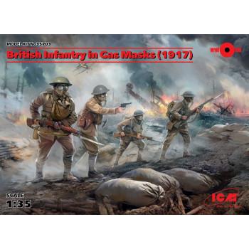 Фигуры, Британская пехота в противогазах (1917 г.) сборная модель