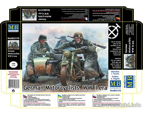 Фигуры Немецкие мотоциклисты, период Второй мировой войны