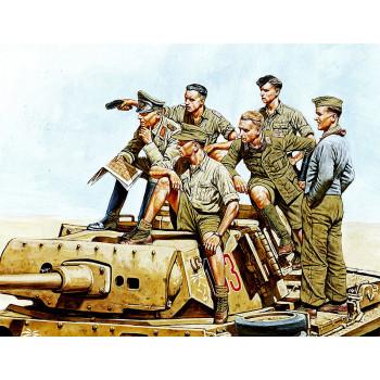Фигуры Роммель и немецкий Танковый Экипаж, ДАК 2МВ