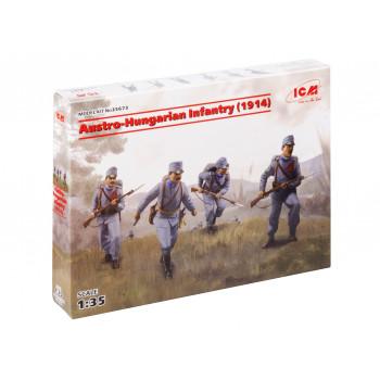 35673 ICM Австро-Венгерская пехота (1914) (4 фигуры), 1/35