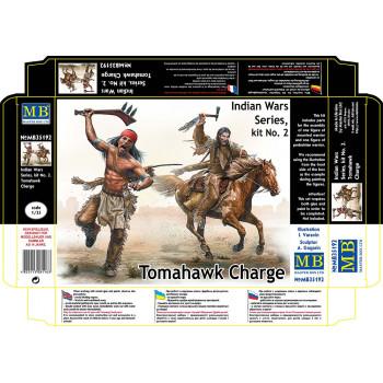 Фигуры, Серия индейских войн, набор № 2. Атака с томагавками