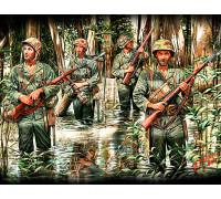 Фигуры Морские пехотинцы США в джунглях, 2МВ