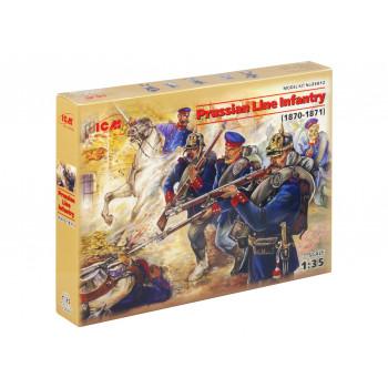 35012 ICM Фигуры Прусская линейная пехота, франко-прусская война (1870-1871), 1/35