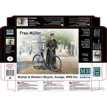 Фигуры Фрау Мюллер. Женщина и женский велосипед, Европа, период Второй мировой войны
