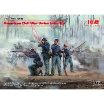 Фигуры, Пехота Союза (Гражданская война в США) сборная модель