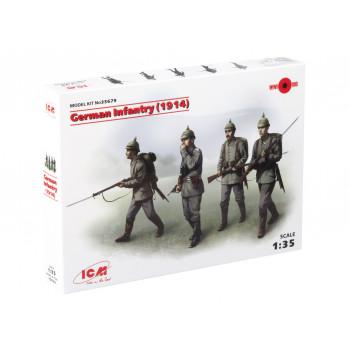 35679 ICM Германская пехота (1914 г.), (4 фигуры), 1/35