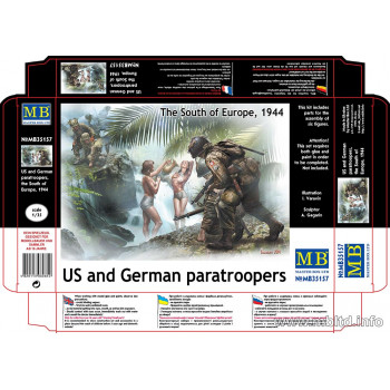 Фигуры Американские и немецкие десантники, юг Европы, 1944»